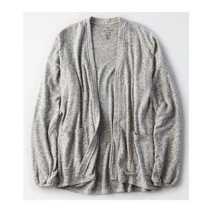 🍃American Eagle Soft & Sexy Plush Grey Cardigan